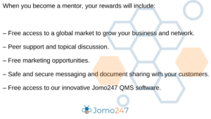 Mentor benefit list for jomo247 ISO consultant