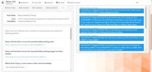 jomo247 compliance management software forms feature screenshot
