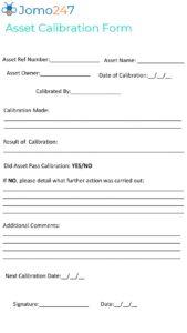 Asset Calibration Form pdf