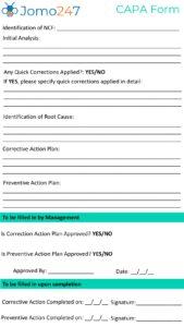 CAPA Form pdf