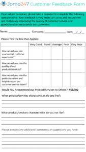 Customer Feedback Form pdf