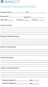 performance improvement plan template personal improvement employee HR free download Dp