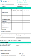 employee performance Employee Performance Review Template
